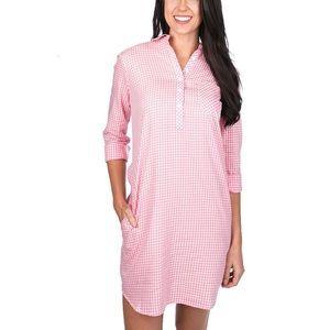 Lauren James Pink Gingham T-shirt Dress